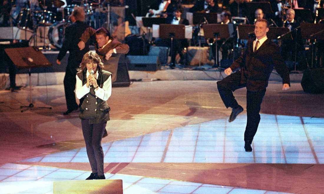 """1991 vann Carola i Italien med """"Fångad av en stormvind""""."""