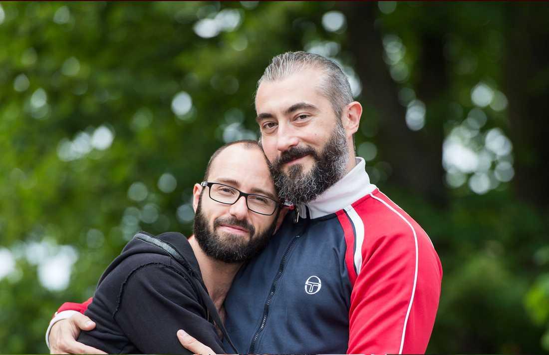 Paret Francesco och Diego ska gifta sig mitt i prideparaden på lördag.