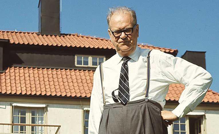 Tage Erlander på Harpsund 1969, året då han avgick som statsminister efter 23 år på posten.