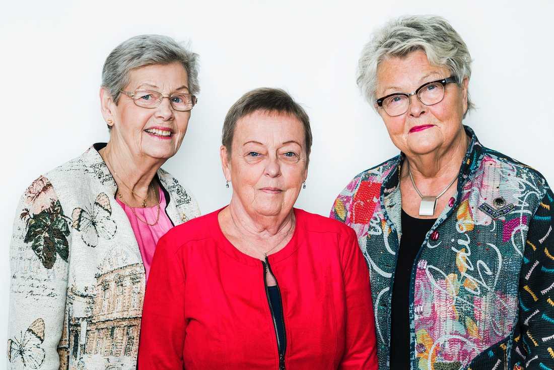 Alla tre förbundsordförande har skrivit under öppna brevet: Berit Bölander (SKPF), Christina Tallberg (PRO) och Eva Eriksson (SPF).