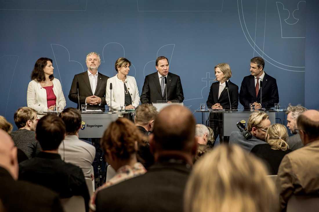 Stefan Löfven (S) presenterade sin regeringsombildning nyligen. Foto: Magnus Wennman