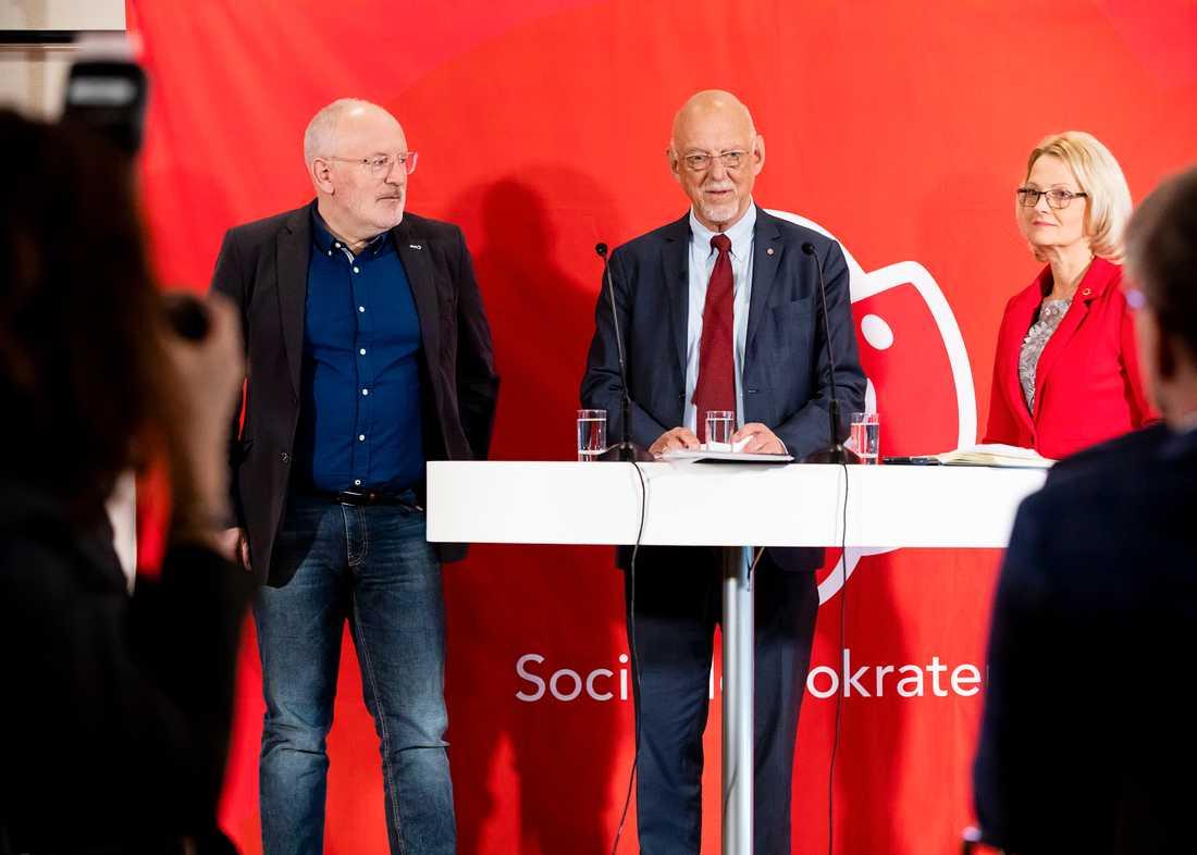 Frans Timmermans, Hans Dahlgren och Helena Fritzon.