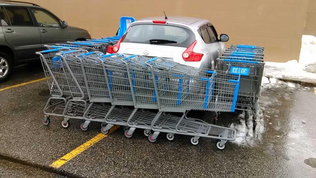 Den här felparkeraren gör nog inte om sitt misstag.