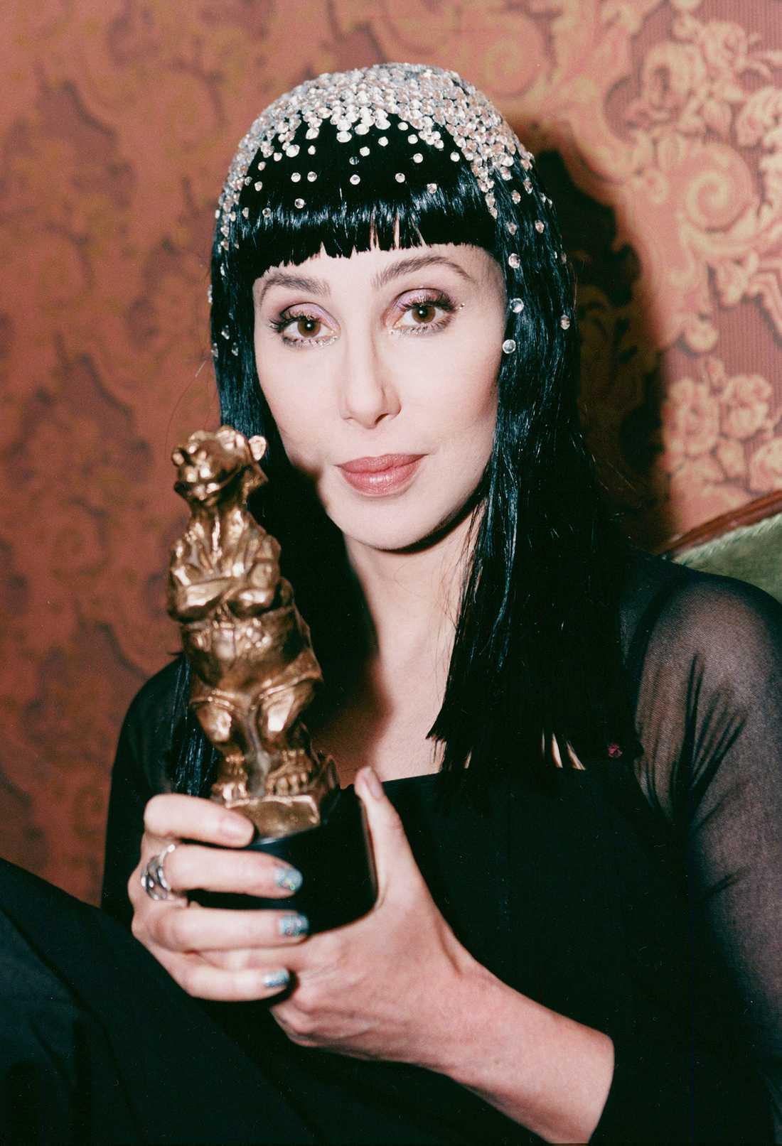 Cher fick 1998 en Rockbjörn för bästa utländska låt.