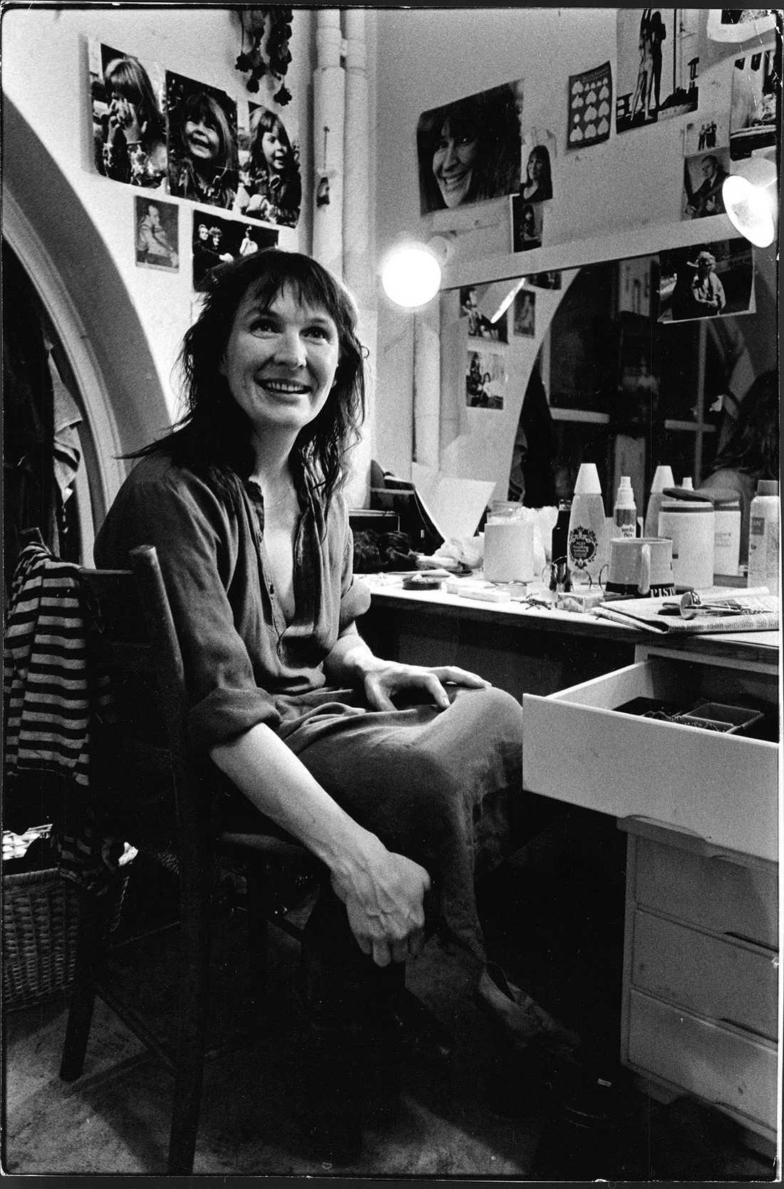 Kim Anderzon i en loge 1979.