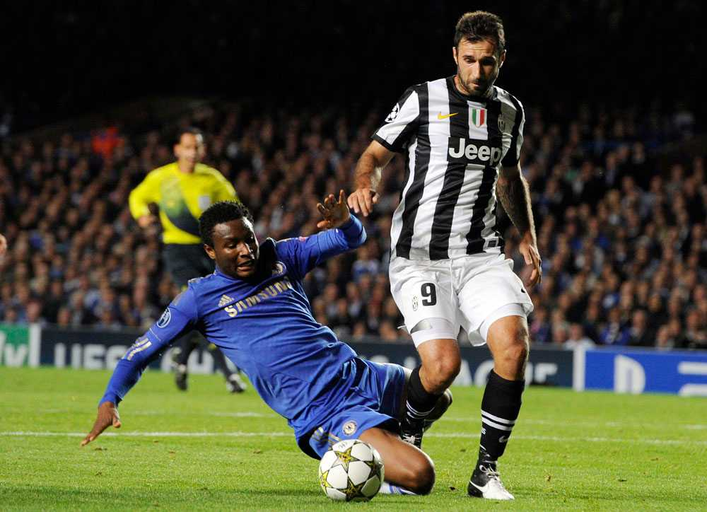 John Obi Mikel gjorde ett misstag i matchen mot Juventus.