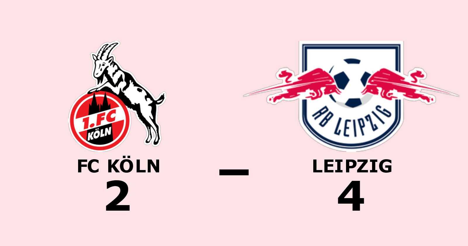 4–2 för Leipzig - tionde matchen i rad utan förlust