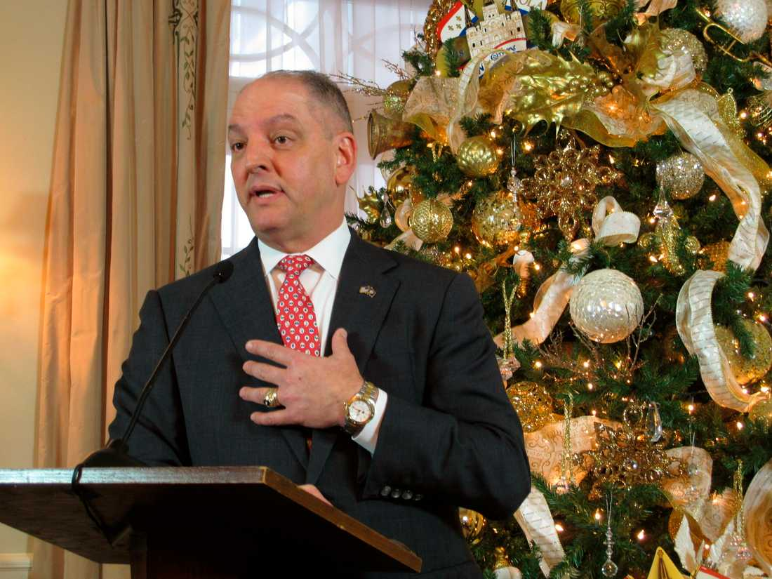 Louisianas guvernör John Bel Edwards väntas skriva under den nya lagen. Arkivbild.