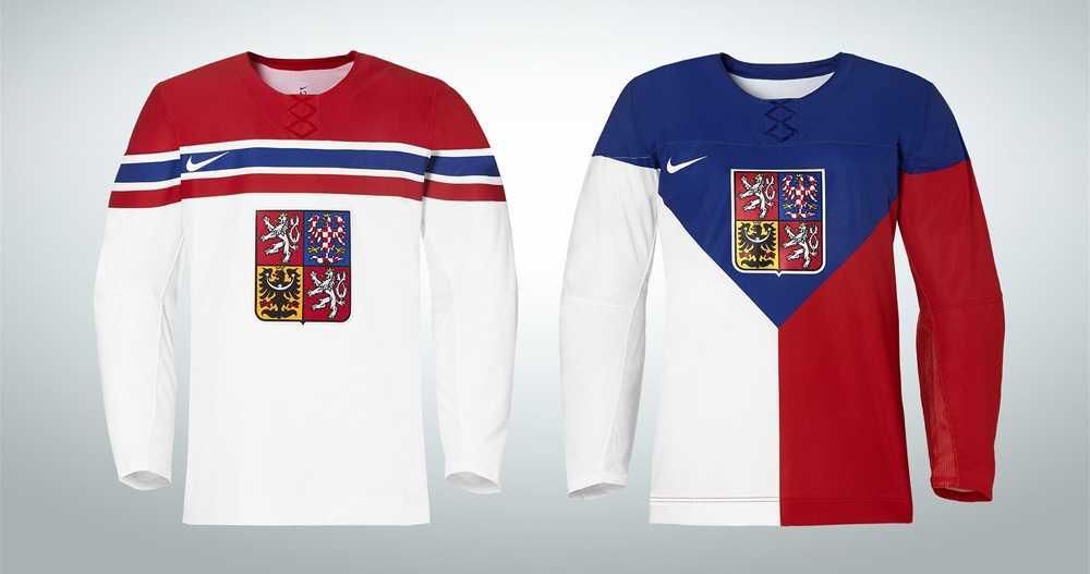 Tjeckiens OS-tröjor.