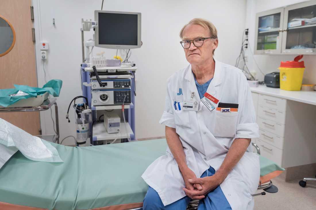 Johan Styrud, överläkare på Danderyds sjukhus och ordförande för Läkarföreningen i Stockholm. Arkivbild.
