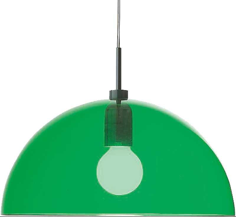 Transparent grön taklampa från Ilva, 1249 kr.
