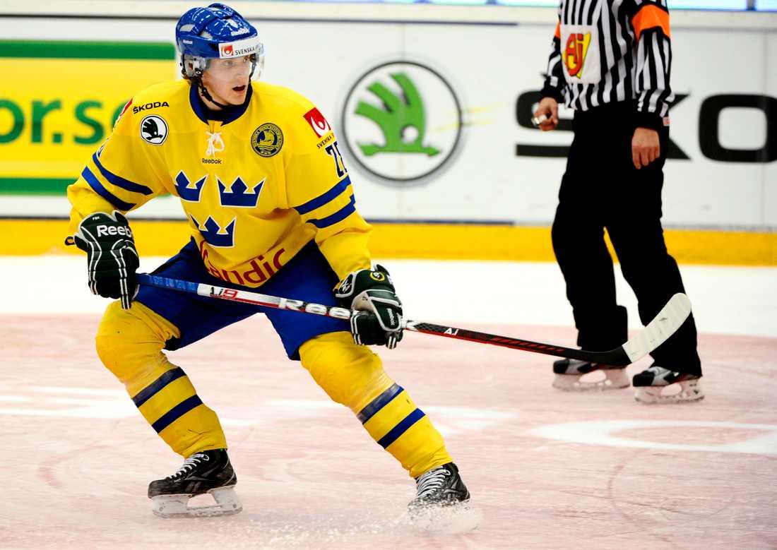 Jonas Brodin senast han var med i Tre Kronor, 2012. Nu spelar han helgens matcher i Tjeckien. Arkivbild.