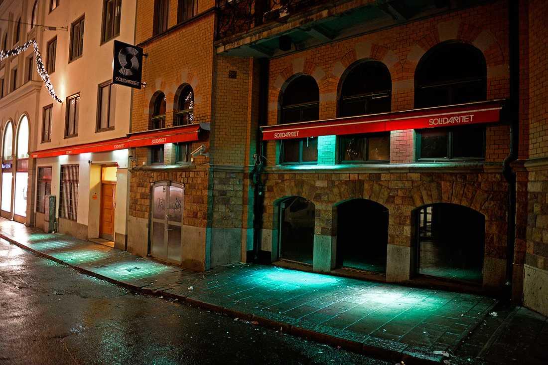 Bråket skedde utanför nattklubben Solidaritet vid Stureplan.