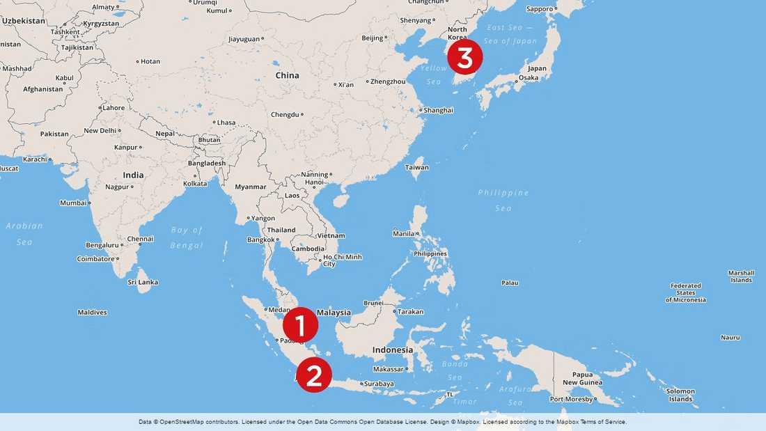 1. Den 8 april uppger Pentagon att en grupp örlogsfartyg med hangarfartyget Carl Vinson lämnar Singapore för att segla mot Koreahalvön (3).