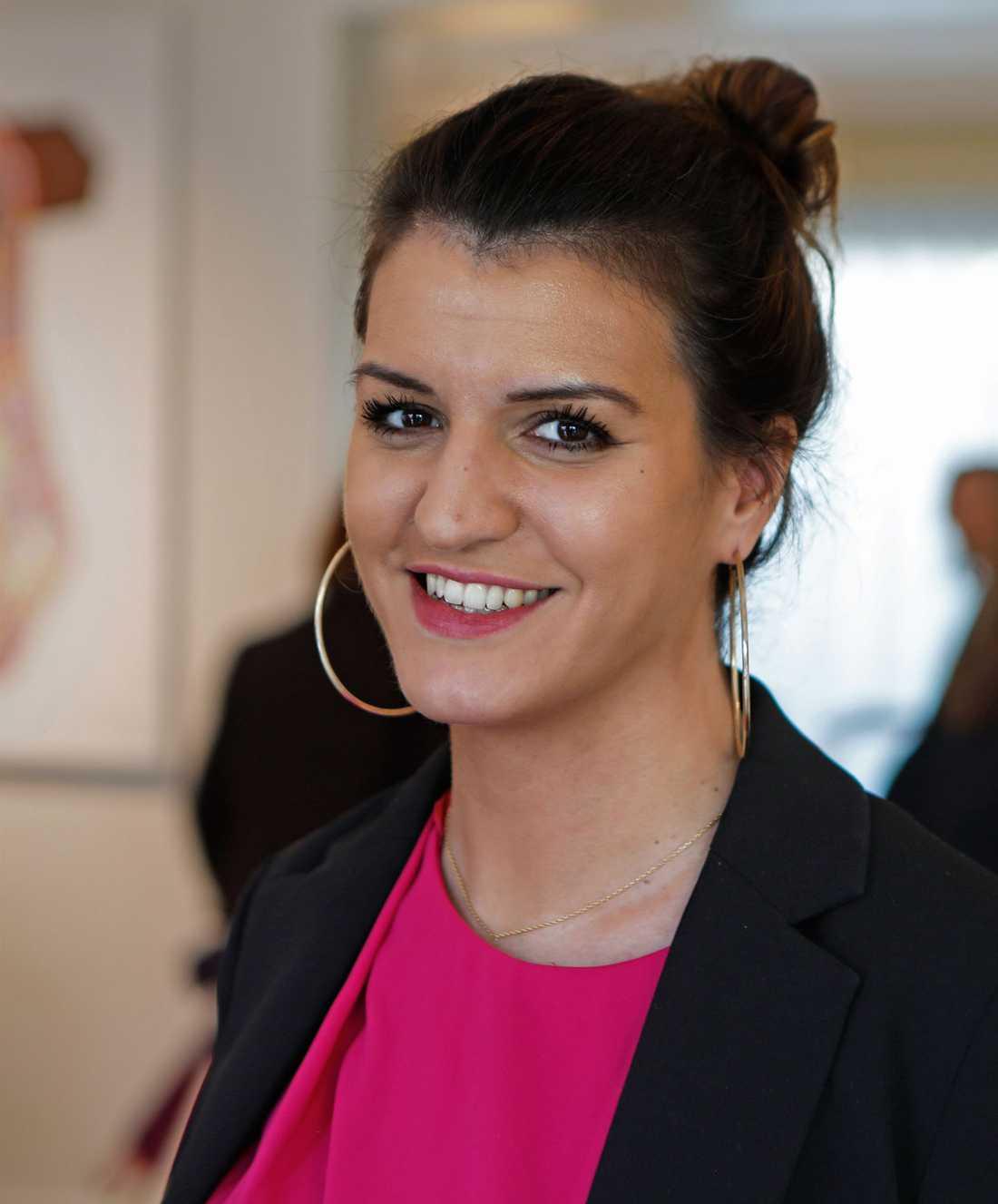 """Frankrikes jämställdhetsminister Marlène Schiappa har ögonen på den svenska modellen för jämställdhet. """"Vi har en kulturellt fajt att ta och vi vill se hur vi kan sprida den här kulturen som lyckats i Sverige."""""""