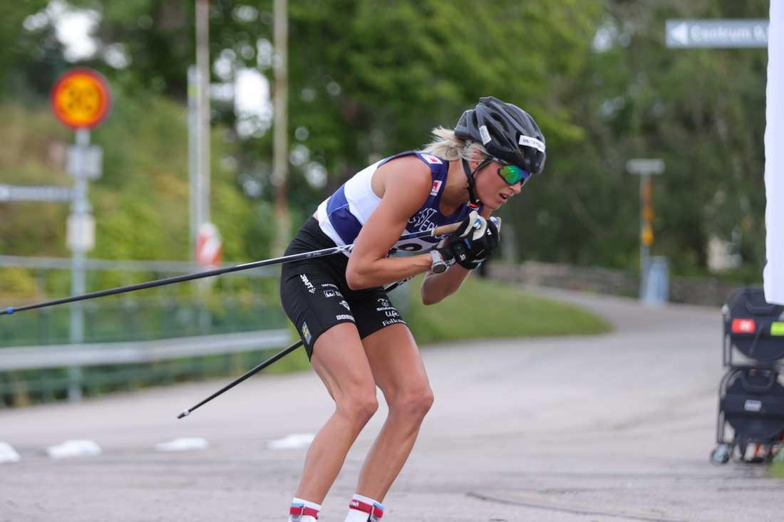 Frida Karlsson i distansloppet.