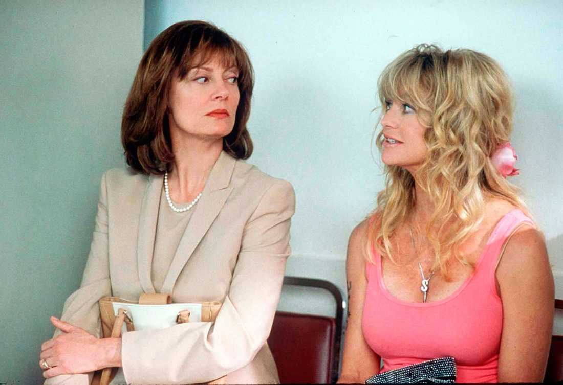 "Goldie Hawn och Susan Sarandon i ""Rocksystrar"""