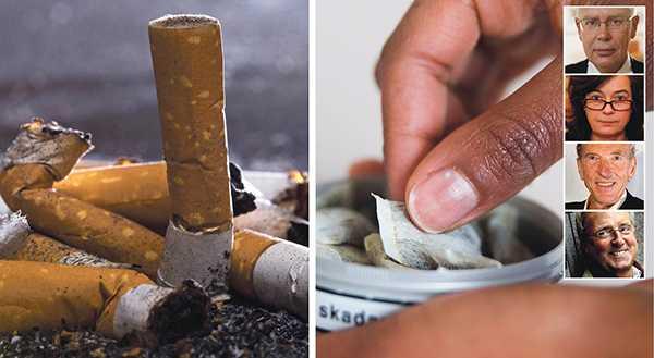 Om snuset ges en chans så vinner vi lättare kampen för folkhälsan och mot cigaretterna, skriver Anders Milton, Christina Bellander, Karl-Olof Fagerström och Göran Johnsson från Snuskommissionen.