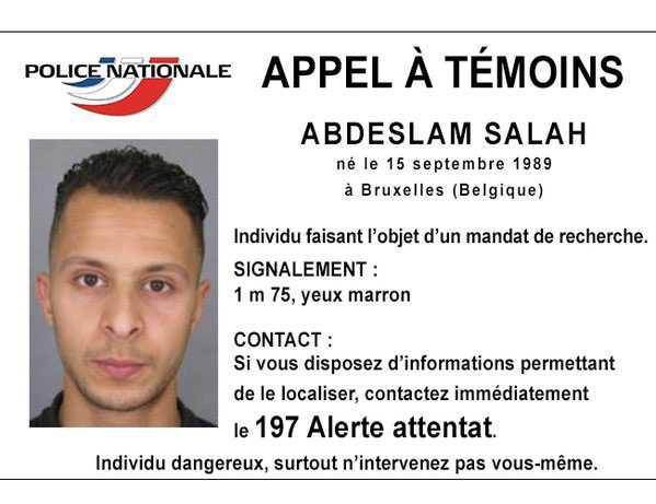 Mannen som jagas i hela världen misstänkt för delaktighet i terrordåden i Paris