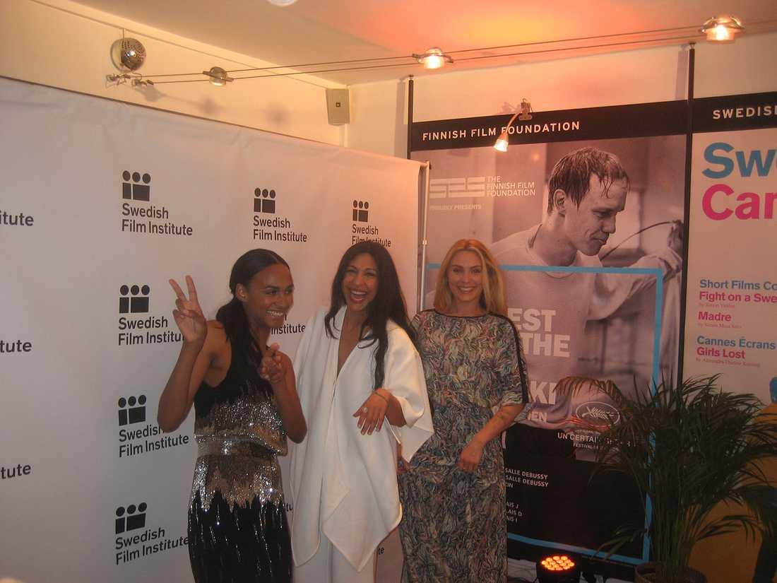 Svenska skådespelartrion Nanna Blondell, Bahar Pars och Aliette Opheim.