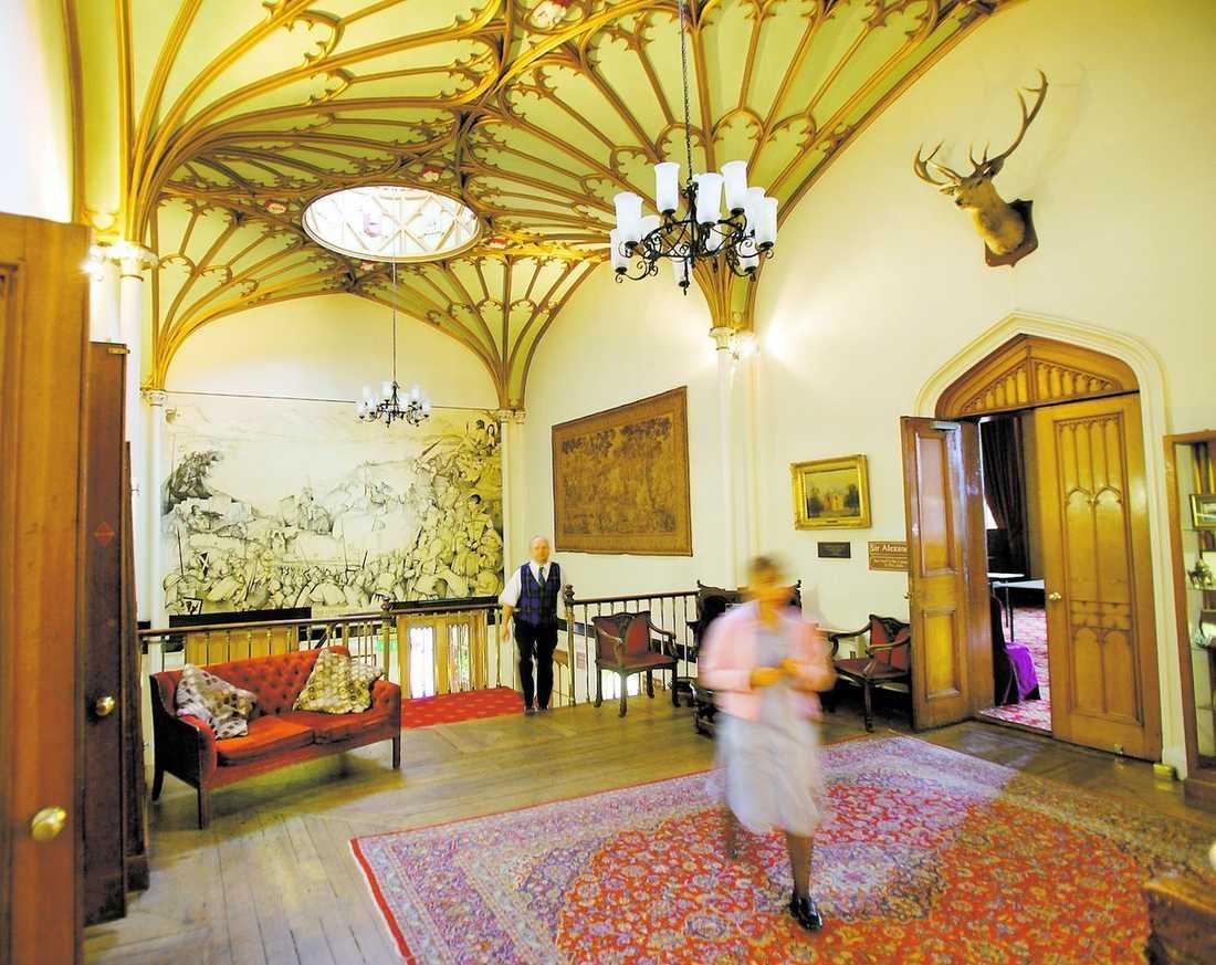 Slottet hemsöks Det sägs att det spökar på Dalhousie Castle. Men det är väl bara skrock?