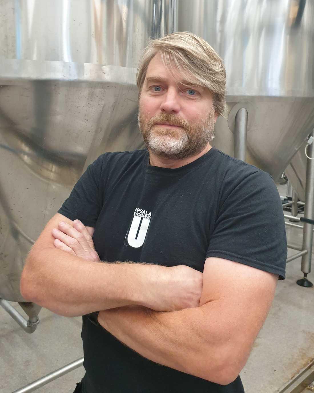 """""""Vi har mellan 10 och 15 olika sorters öl"""", säger Stefan Öström på Uppsala Brygghus."""