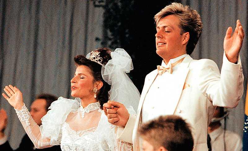 Bröllopet med Runar Sögaard 1990.
