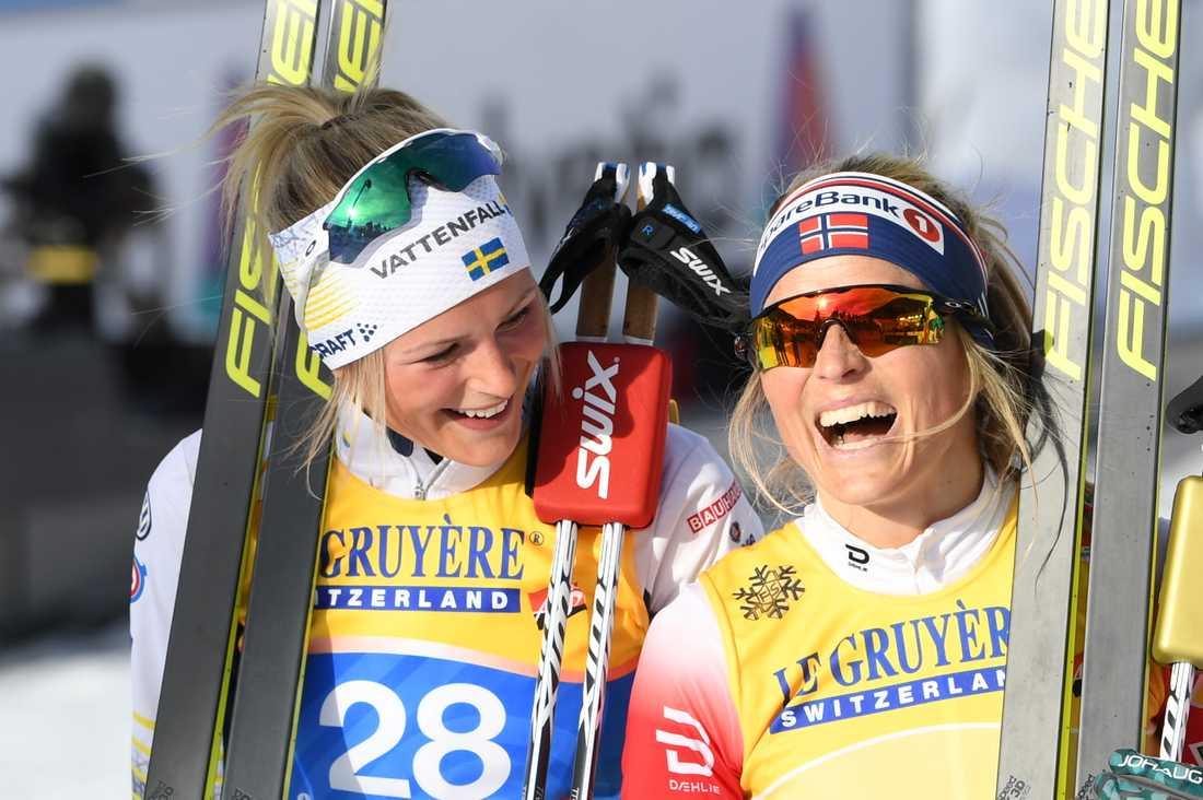 Frida Karlsson bland annat en silvermedalj i VM i Seefeld. Efter succén förändrades hennes liv. Arkivbild.