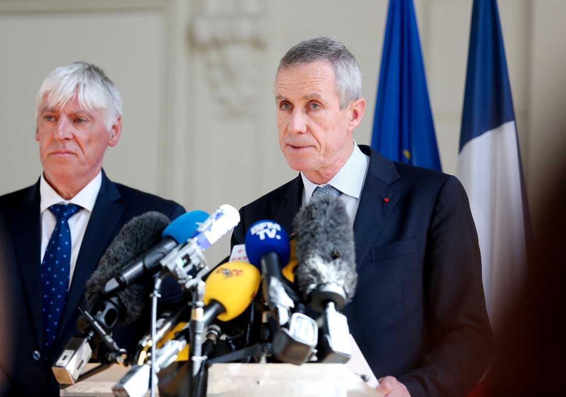 Franske åklagaren François Molins höll en presskonferens strax efter 17.00 under fredagen.