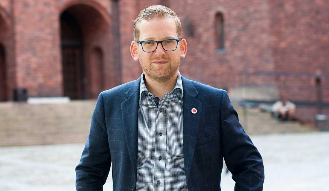 Alexander Lindholm, ansvarig för idrottsfrågor hos Socialdemokraterna.