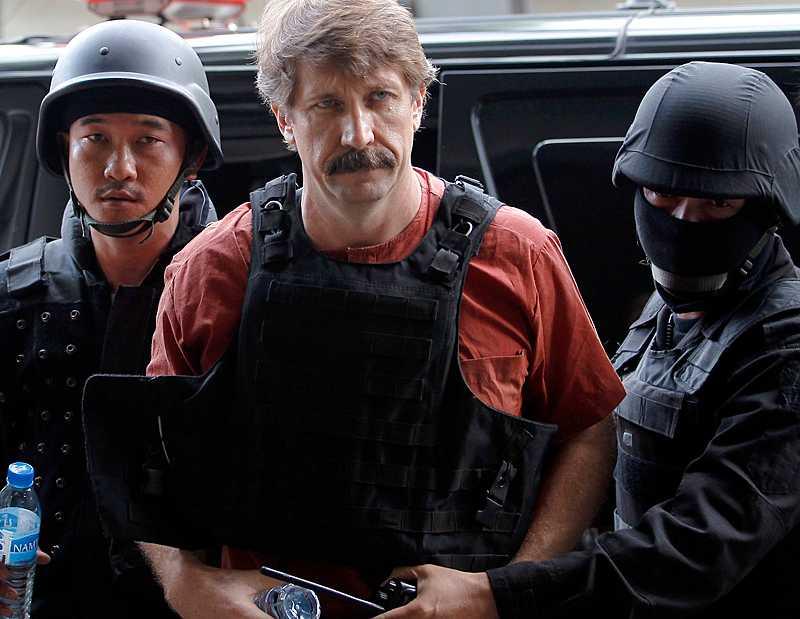 Viktor But greps i Bangkok 2008. Bilden är tagen 2010, innan han fördes till rättegången i USA.