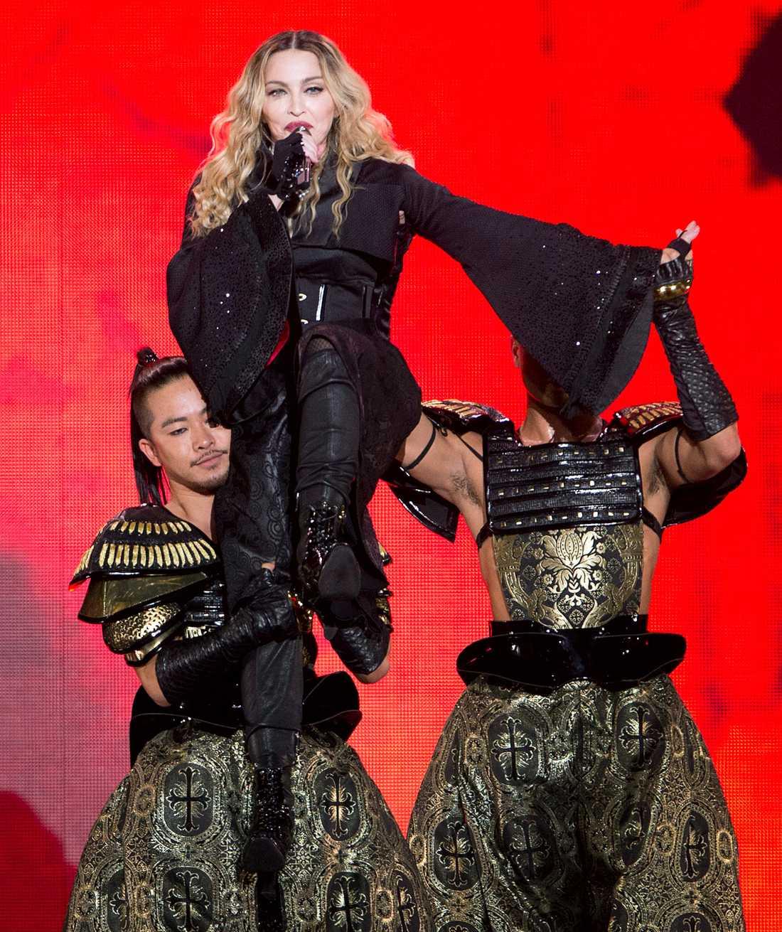 Madonna under turnépreiären i Montreal.
