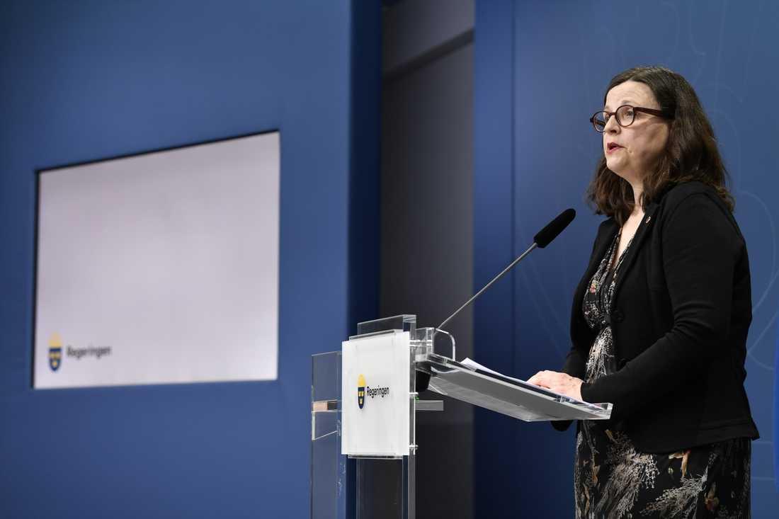 Utbildningsminister Anna Ekström (S)