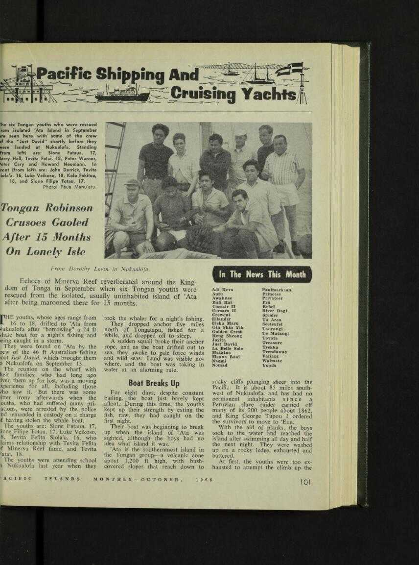 Ett tidningsurklipp från 1966.