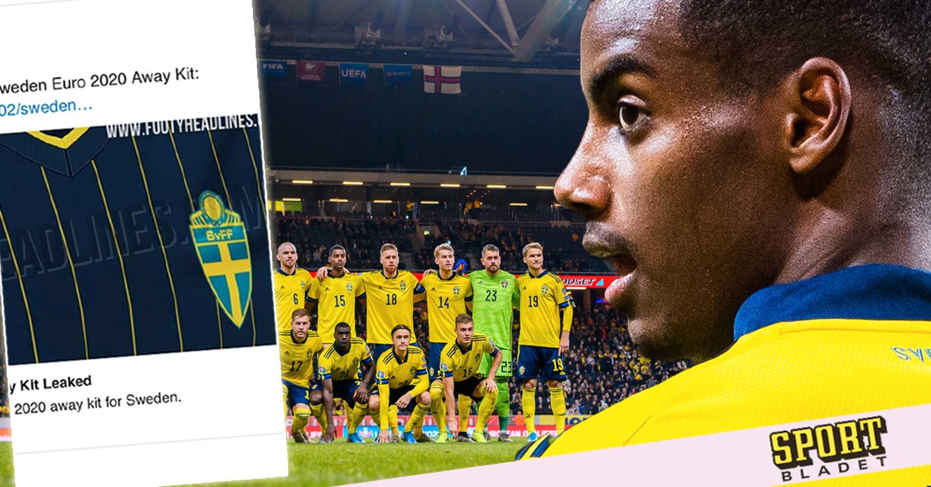 Sveriges bortatröja till EM har läckt ut