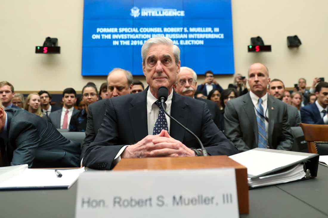 Rysslandsutredaren Robert Mueller vittnar inför underrättelseutskottet i USA:s representanthus.