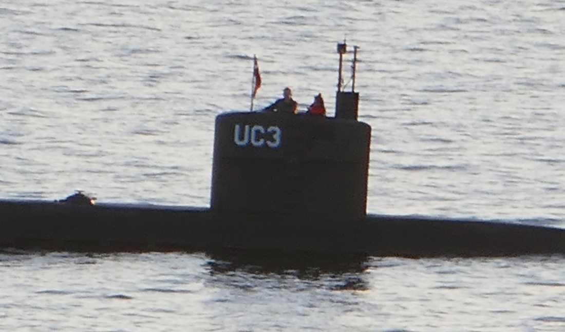 Peter Madsen och Kim Wall ombord på Nautilus i Öresund.