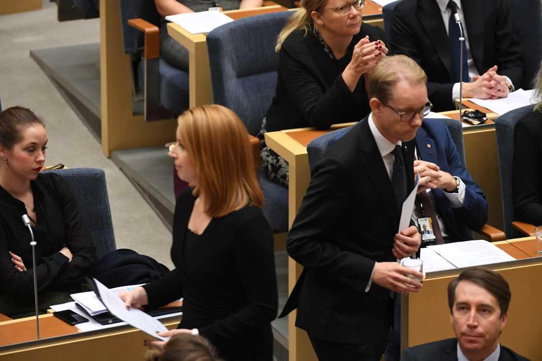 Annie Lööf (c) och Tobias Billström (m)