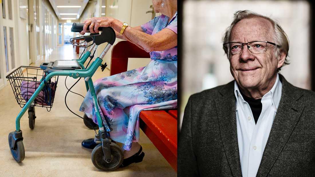Krisen inom äldrevården är en av de som blivit tydliga under coronapandemin. Sociologen Göran Therborn, professor vid University of Cambridge, ser en blek och avslagen svensk debatt om vilka åtgärder som krävs.