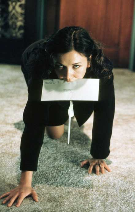 Maggie Gyllenhaal i heta Secretary.