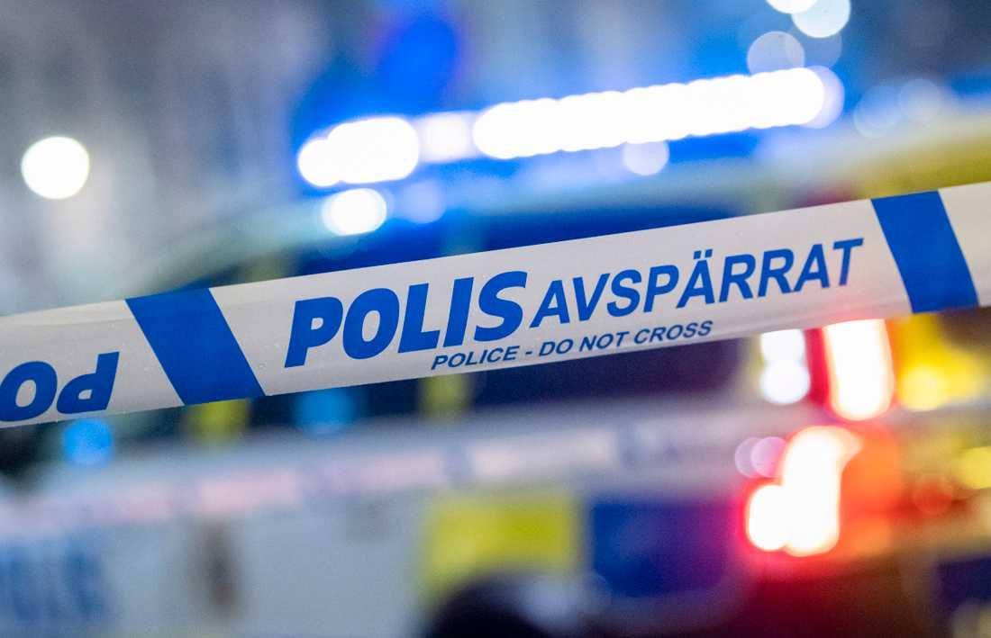 En man har skadats vid ett inbrottsförsök i Västerhaninge söder om Stockholm. Arkivbild.