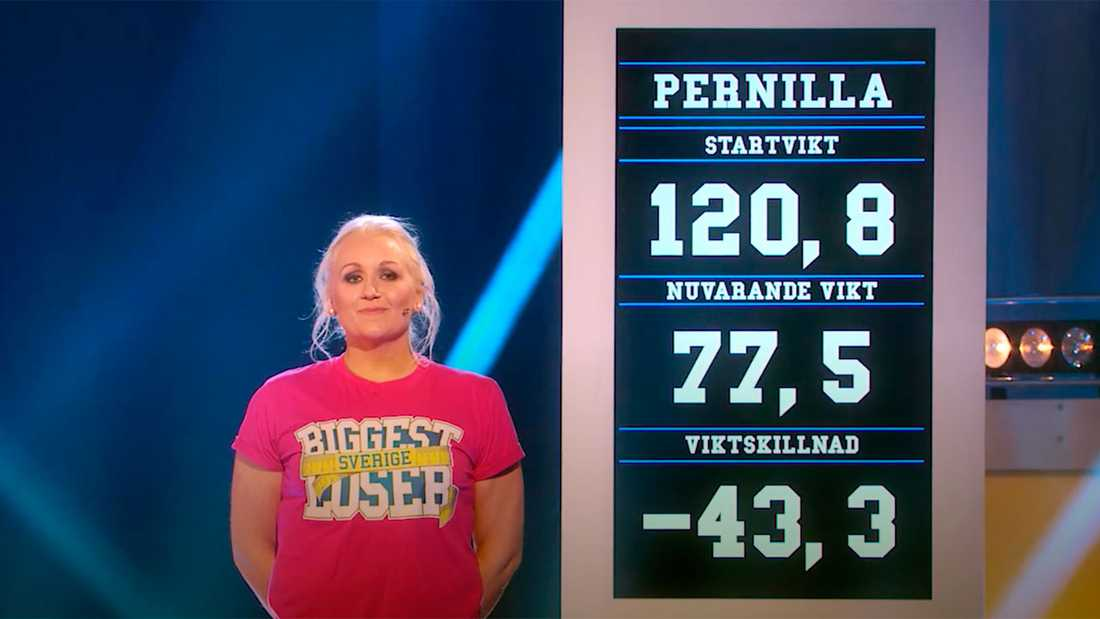 "Pernilla Skoglund vann hemmapriset i ""Biggest loser""."