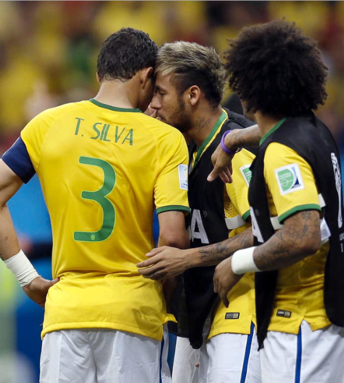 Thiago Silva och Neymar är lagkamrater i det brasilianska landslaget. Foto: AP/Natacha Pisarenko