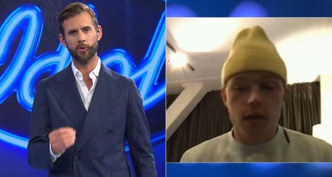 Affe berättade för Per Lernström att han inte kan uppträda i kvällens Idol – han är för sjuk.