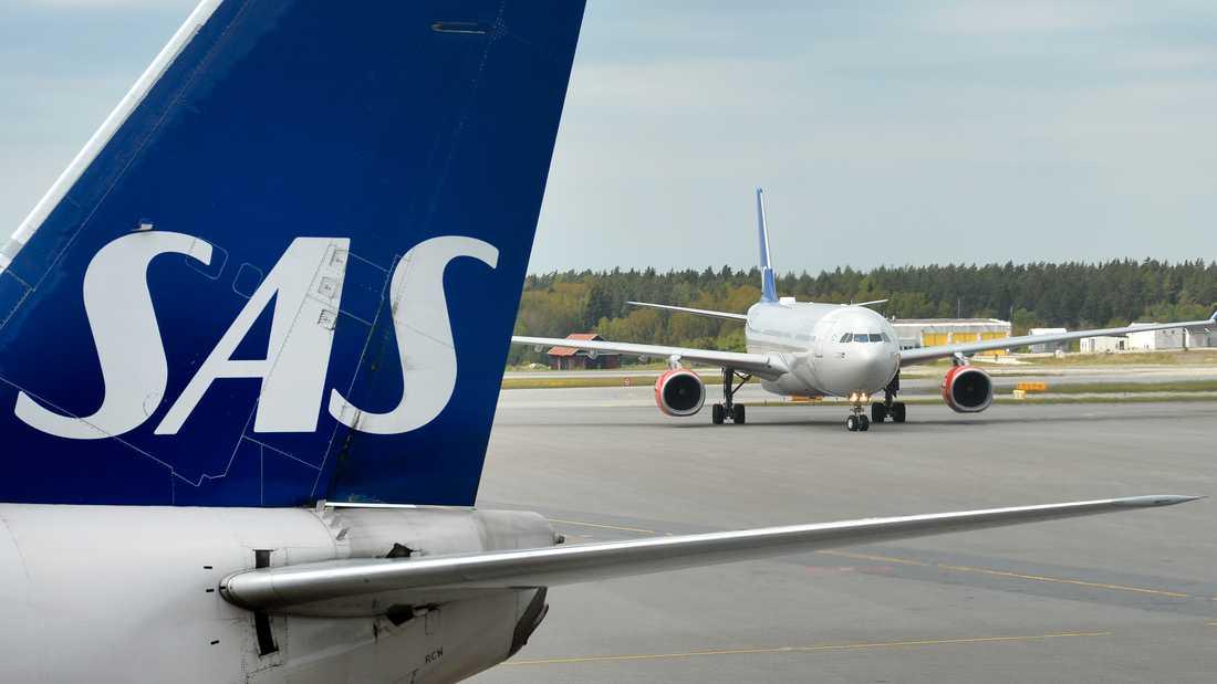Trots rådande inreseförbud fortsätter SAS att sälja flygbiljetter från Sverige till Grekland. Arkivbild.