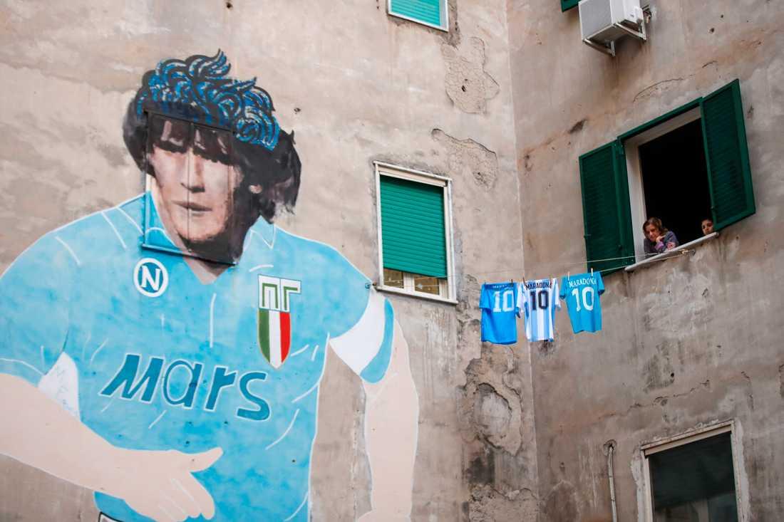 Napolis arena heter från och med nästa vecka Stadio Diego Armando Maradona. Arkivbild.
