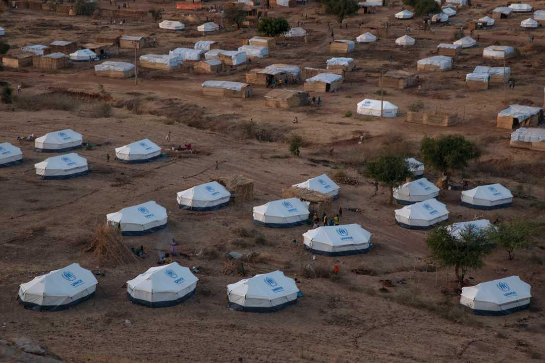 Flyktinglägret Umm Rakouba i östra Sudan, dit många Tigraybor flytt undan striderna i norra Etiopien. Arkivbild.