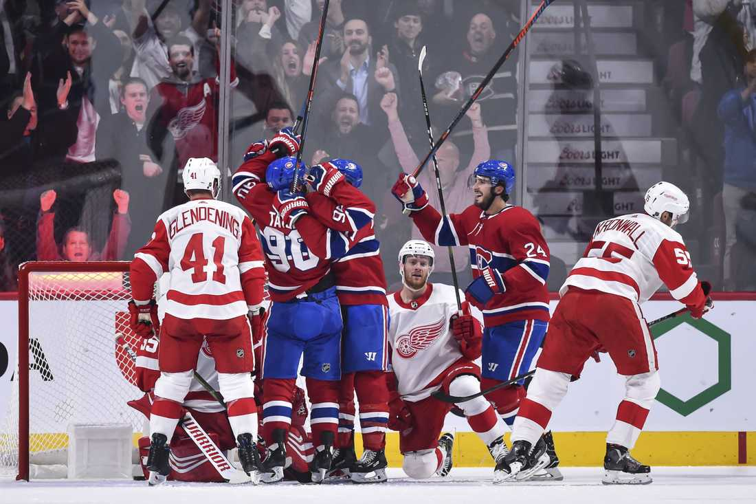 Detroit Red Wings föll stort mot Montreal Canadiens