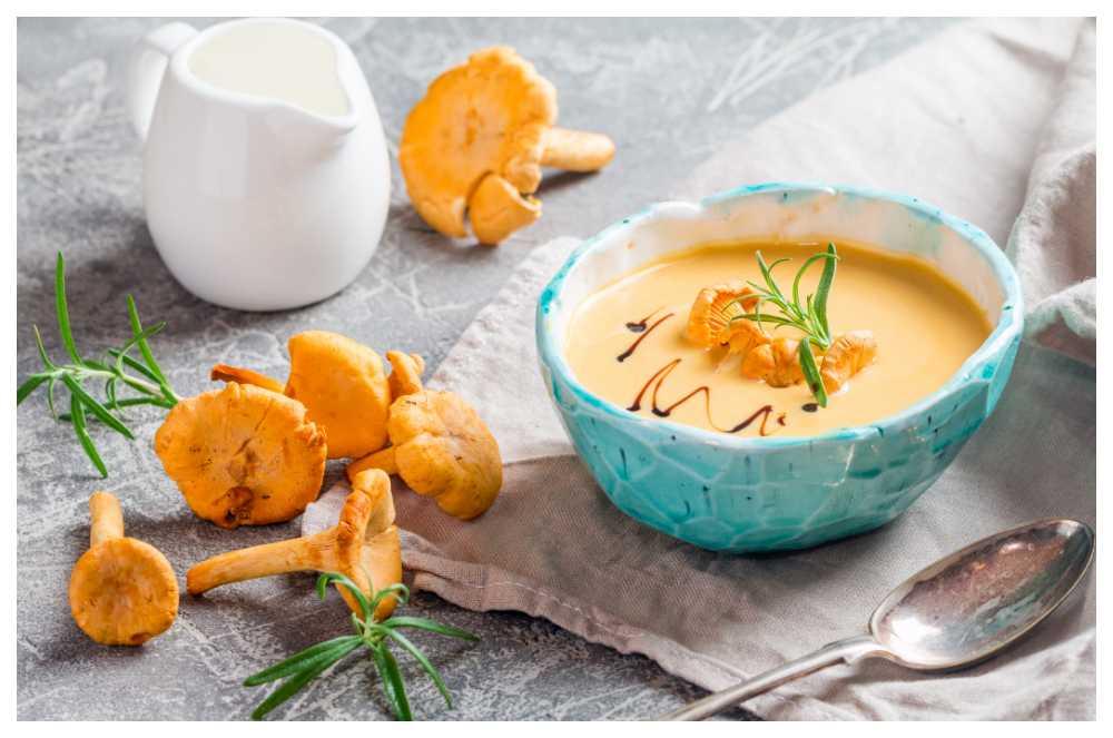 Soppa och svamp, en perfekt kombo.