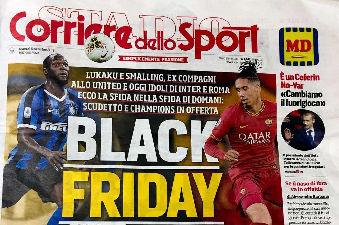 Corriere dello Sports förstasida.
